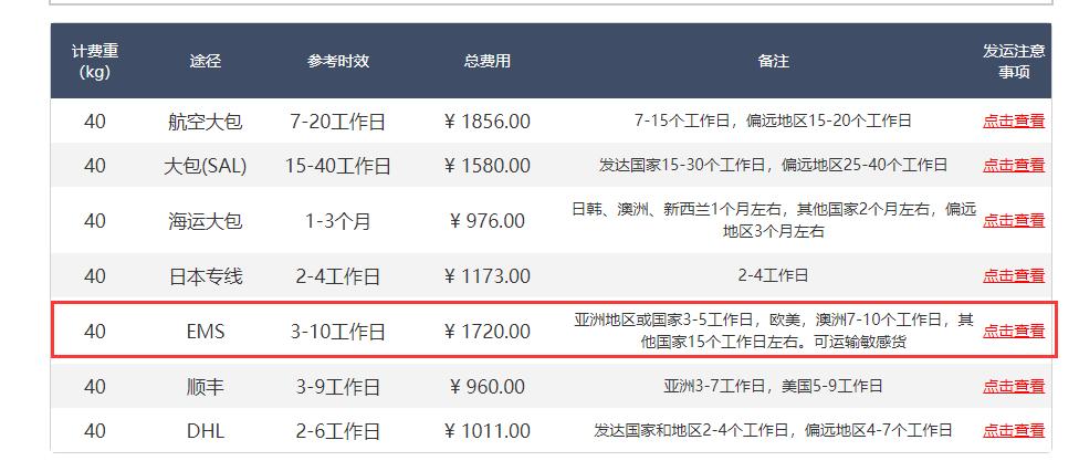 牛气集运国际物流寄到日本多少钱